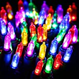 Clear Bulbs Christmas Lights - HAYATA 100 LED 33ft Mini String Light - Fairy Lighting for Outdoor, Indoor, Garden, Landscape, Party, Home, Holiday, Garland, Christmas Tree Decorations (Multi Color)
