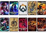 GTOTd Stickers for Game Character Overwatch 10-Pcs, Sticker Decals Vinyls for Laptop,Kids,Cars,Motorcycle,Bicycle,Skateboard Luggage,Bumper Stickers Hippie Decals Bomb Waterproof( Random)