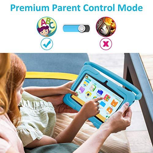 Tablet PC pour Enfants, Veidoo Premium 7 Pouces Android Tablet PC, 1 Go / 16 Go, écran de Protection des Yeux de sécurité, Application de contrôle Parental, Meilleurs Cadeaux pour Enfants (Bleu)