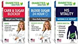 Diabetes Doctor Men's Health 3 in 1 Bundle - 24 Hour Blood Sugar Support, Mealtime Carb & Sugar Blocker, His Vitality - Blood Sugar & Insulin Support for Men