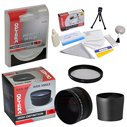 0.43x High Definition II Wide Angle Panoramic Macro Fisheye Lens For Finepix S700 S5600 S5700 S5800 Digital Camera Includes Bonus + High Definition II UV (0) Ultra Violet Haze Multi-Coated Glass Filter + Tube Adapter + Deluxe Lens Cleaning Kit + LCD Screen Protectors + Mini Tripod + 47stphoto Microfiber Cloth Photo Print !