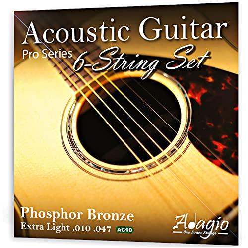 Adagio Professional Acoustic Guitar Strings Full Set/Pack - Gauge 10-47...