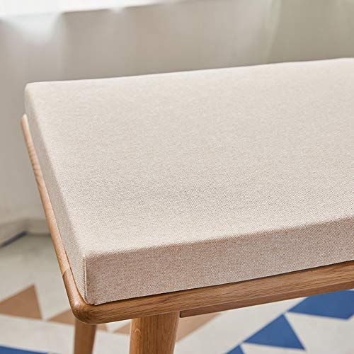 BoruisX Garden Bench Cushion 2 3 Seater for Outdoor Indoor Furniture,Deep Seat Patio Cushions Outdoor Couch Storage Bench Cushion-Thick 4cm (120x35cm,Beige)