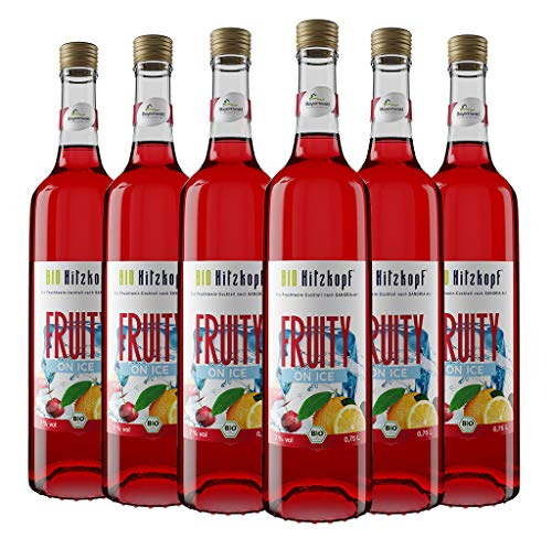 Bio Hitzkopf Fruchtwein-Cocktail FRUITY ON ICE nach Sangria-Art 6x0,75l,7% vol