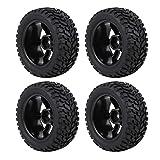 keyren RC Military Truck RC Car Wheel Neumático, Antideslizante RC Car Neumático, 4pcs / Set Neumáticos de(Plastic New 7 Holes)