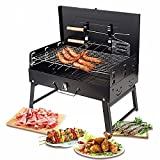 Portable Charcoal Grill, Foldable Barbecue Grill Small BBQ Grill for Outdoor Campers Barbecue Lovers Travel Park Beach Wild etc