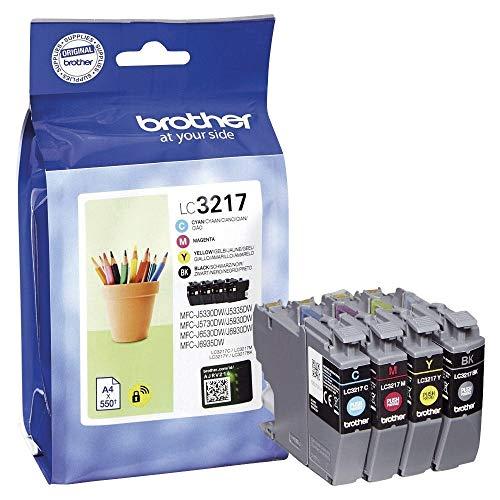 Brother LC-3217 Tintenpatronen Value Pack mit Mehrfarbig (Schwarz, Cyan, Gelb und Magenta)