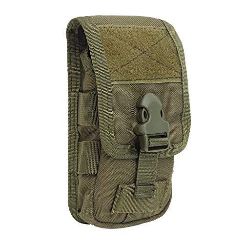 Pvnoocy Taktische Handy-Gürteltasche, MOLLE-Handyholster, 1000D Nylon, Armee-Militär-Tasche, EDC, Sicherheitspaket, Gürteltasche, Münzbörse für Outdoor (grün)