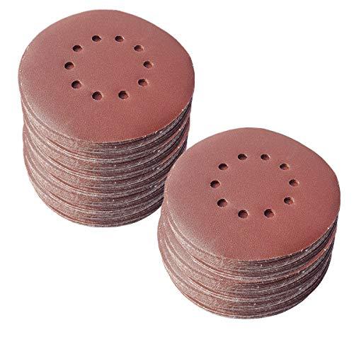 25 unidades de discos abrasivos de 225 mm de diámetro, con 10 agujeros, grano P40, lijadora excéntrica, lijadora de cuello largo