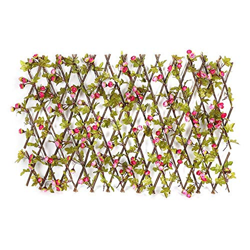 Künstliche Gartenpflanze Zaun UV-Schutz Privatsphäre Bildschirm Holz Rattan Erweiterbar Künstliche Datenschutz Zaun Home Garten Dekoration Zaun Dekoration Garten Outdoor ( Color : Black )