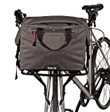 Two Wheel Gear 4 in 1 Dayliner Roll Top Handlebar Trunk Bike Box Bag - Water Resistant Messenger Bag, Handlebar Bag, Rear Rack Bag, and Front Rack Bag in One, 20L Graphite Gray