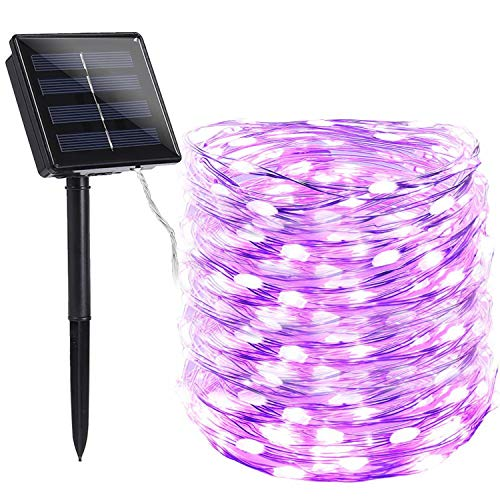 Toodour Solar String Lights, 72ft 200 LED 8 Modes Solar Fairy Lights, Waterproof Solar Outdoor String Lights, Copper Wire Fairy Lights for Garden, Party, Wedding, Holiday Decorations (Multicolor)