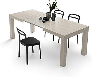 2560fadc870ad Mobili Fiver, Table Cuisine Extensible jusqu'à 220 cm, Iacopo, Mélaminé Orme