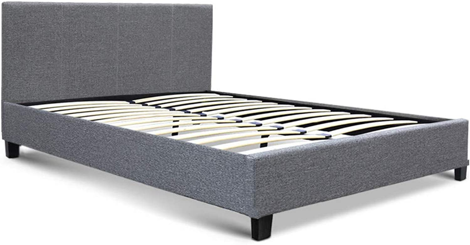 Artiss Double Bed Frame Fabric Upholstered Bed Base with Headboard