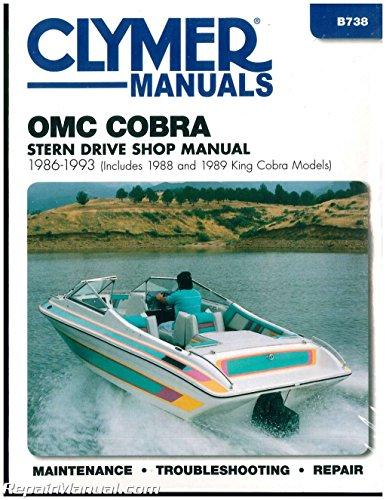 B738 Clymer OMC Cobra 1986-1993 Stern Drive Boat Engine Repair Manual
