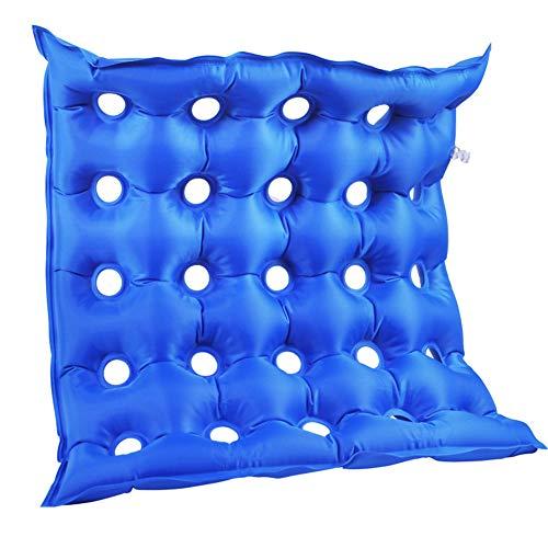 vap26 Luftpolster-Sitzkissen mit Pumpe, quadratisch, Anti-Dekubitus, blau, Free Size