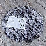 ZPX Alfombra de imitación Suave de Piel de Cordero alfombras de Piso Ideal para el Dormitorio o la Sala de Estar, Alfombra de Piel, para sillas y sofá, para Proteger a Sus Hijos (Color, 60x60cm)