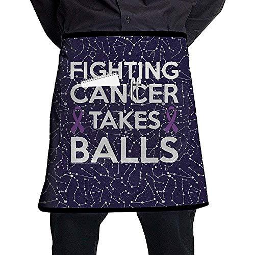 Judith Wat Grembiule a Tasche in Vita, Lotta Contro Il Cancro: Palline da Cucina Professionale Grembiule Mezzo Corto per Uomo Donna, Cucina, Grill e Cottura, Durevole Facile da Pulire