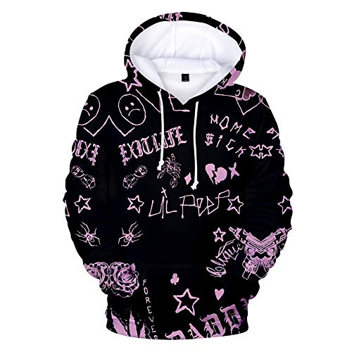 Bjhkmemg Lil Peep Pullover Pulóver Sudadera suéter de Abrigo Tendencia de la Moda Salvaje Estilo Deportivo Hombre Casual de Invierno y el otoño de Las Mujeres Unisex