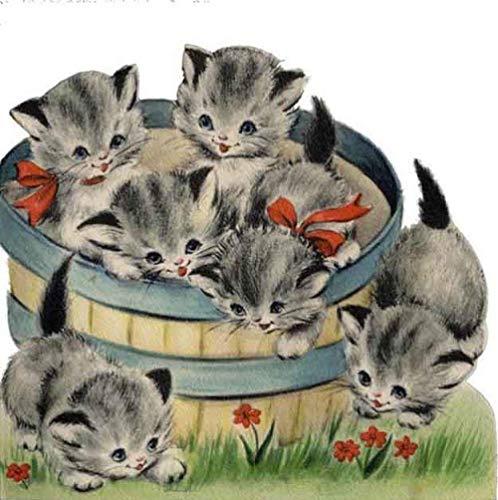 edelstenen foto DIY diamant schilderij de beker van dieren hond muis kat volledige strass kruis steek borduurwerk theepot naaldwerk Round 30x30cm 7
