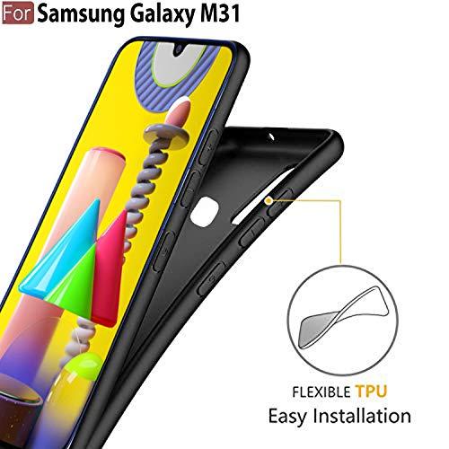CEDO Samsung M31 / F41 / M31 Prime Back Cover | Matte Soft Silicon Flexible | Camera Bump Protection | All Side Shock Proof Rubberised Back Case Cover for Samsung Galaxy M31 / F41 / M31 Prime (Black)