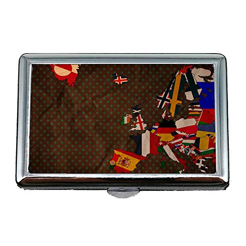 Yanteng cigarette case holder,Map Wallpaper map nyc,Business Card Holder Business Card Case Stainless