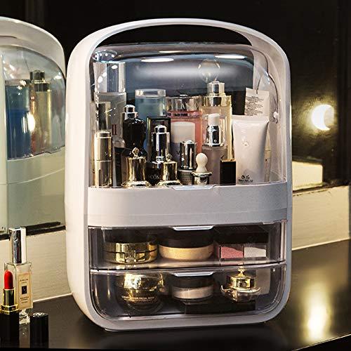 LOUIS BERLIN Kosmetik Make up Organizer YOLA in beige mit Schubladen für Aufbewahrung im Bad im Schlafzimmer von Lippenstift Schmuck Nagellack