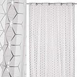 Cortina Visillo Plateada de poliéster Moderna para Dormitorio de 140x260 Fantasy - LOLAhome