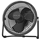 2020 New Battery Operated Fan with Timer, 4 Speeds with Upgraded Strong Airflow, 9 Inch Rechargeable Desk Fan for Home Camping Hurricane, Quiet & Portable, Fast Charging, 5200mAh, Metal Fan for Durable, Easy Cleaning, 360° Rotation