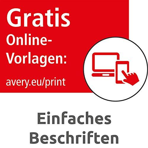 Avery Zweckform L4761-100 Ordnerrücken Etiketten (A4, 400 Rückenschilder, breit/kurz, selbstklebend, blickdicht, 61 x 192 mm) 100 Blatt weiß - 7