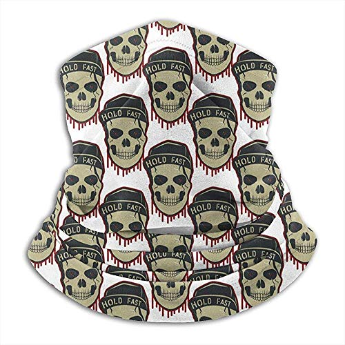 YTGHF Bufanda Neck Warmer Gaiter Skull Pattern Soft Microfiber Headwear Face Scarf Mask