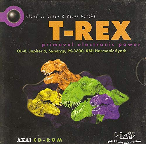T-REX for Akai - primeval electronic power - samples - OB-8, Jupiter 6, Synergy, PS-3300, RMI Harmonic Synth