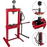 VEVOR 12 Ton Hydraulic Shop Press, Hydraulic Press Shop Floor 12 Ton 26455 lbs Steel Plates With Foot Pedal Pump & Manometer