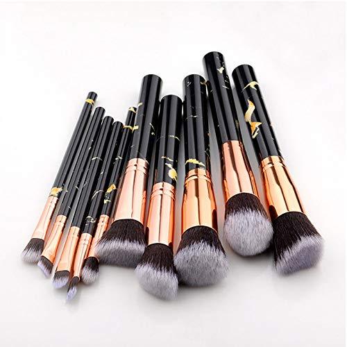 MLYJC Pinceaux Maquillage kit Ensemble de pinceaux de maquillage Brosses à outils Pinceau de maquillage multifonctionnel Correcteur de fard à paupières Fondation, 10pcs noir