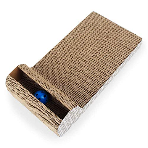 YYGUI P-Shaped mobiele bel gegolfde kat krasplank 45 * 23 * 4Cm