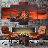 Wandbilder Wohnzimmer 5 Teilig Leinwand Bilder Wohnzimmer