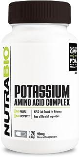 NutraBio Potassium Complex (99mg) - 120 Vegetable Capsules