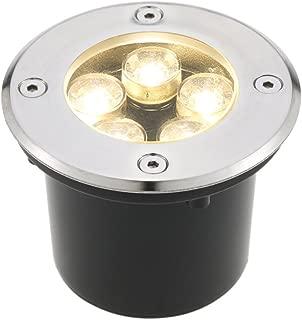 Tomshine 5W AC/DC 12V 埋め込み式LED スポットライト 550LMハイパワー 強化ガラス IP67防水対応  ガーデンライト 玄関先 屋外照明 遊歩道