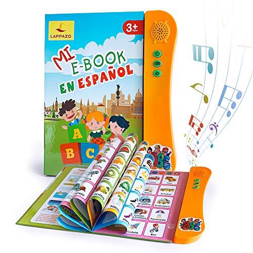 Libro Electrónico de Sonido en Español Juguetes de Aprendizaje para Bebés Niños...