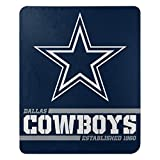 Northwest 1NFL031040009RET NFL Dallas Cowboys The Company Splitwide Printed Fleece Throw, 46' x 60', Team Color, 50' x 60'