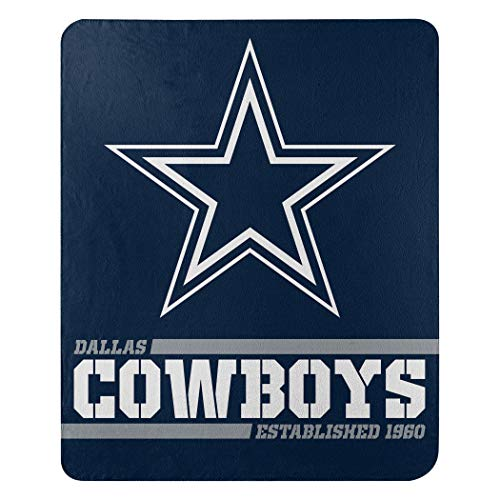 Northwest 1NFL031040009RET NFL Dallas Cowboys The Company Splitwide bedruckter Fleece-Überwurf, 116,8 x 152,4 cm, Team-Farbe, 127 x 152,4 cm
