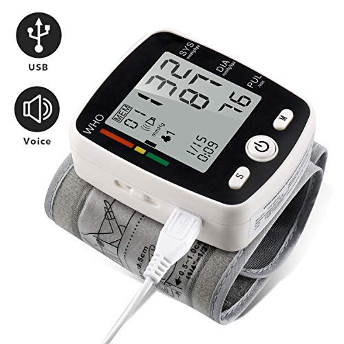 Sale!! Wrist Blood Pressure Monitor with USB Charging, Portable Automatic Digital BP Machine,180 Rea...