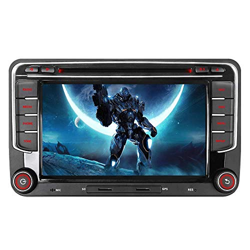 "16GB SD Karte 7"" Autoradio DVD GPS CAN-Bus Für VW Golf 5 6 V VI, Passat B6, Tiguan, Polo, Touran, Candy, Sharan, EOS, Skoda Fabia, Octavia Yeti, Seat Leon DAB VMCD Mirrorlink Navigation USB BT"