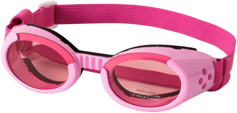 Doggles Stylish Portable Dog UV Predection sunglassIls Extra Large Pink Frame   Pink Lens