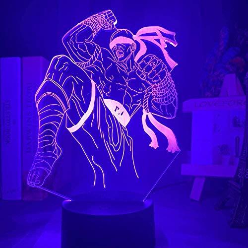 BTEVX Spielzeug Nachtlicht - 3D Nachtlampe 3D Lampe Japanischer Anime Naruto Kurama Figur Geschenk für Kinder Kinderzimmer Dekoration Led Nachtlicht 7 Farben Wechselnde Nachtlichter Touch Smart