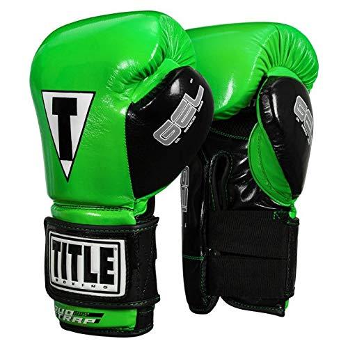 Title Boxing Gel Glory Super Bag Gloves 2.0, Lime/Black, 14 oz