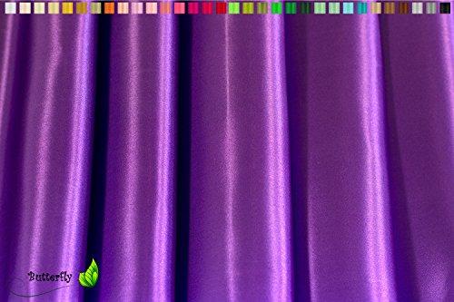 Creativery 1m Satinstoff 150cm (lila/Purpur 465) // Deko Stoff Satin Glanz Gewebe Kleidung Hochzeit Vorhang Mode