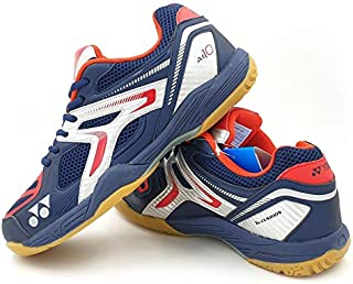Yonex AllEngland X Non-Marking Professional Badminton Shoes, Navy/Red/Silver - 8.5 UK