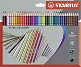 Matita colorata acquarellabile - STABILOaquacolor - Astuccio da 36 Grey Design - Colori as...