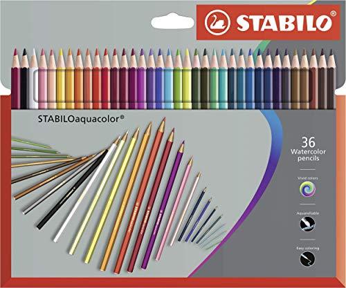 STABILO aquacolor - Aquarell-Buntstift - 36er Pack - mit 36 verschiedenen Farben